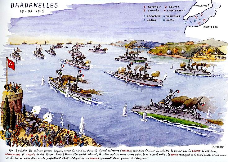 Lufta Angli - Turqi - Beteja e Canakalase 1915