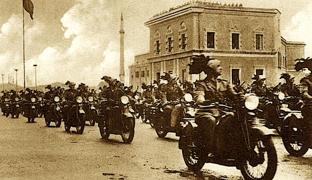 Hyrja e ushtrisë Italiane në Tiranë.