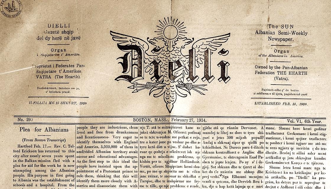 "Gazeta ""Dielli"" (1909 -2019)"