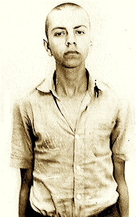 16-vjeçari Gjergj Hani në kohën e arrestimit, i paraburgosur në Degën e Punëve të Brendshme Durrës