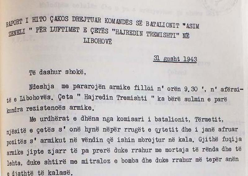 Hito Cako i shkruan Komandës së Cetës
