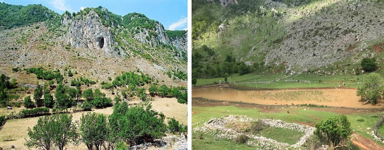Shpella e Pëllumbave dhe liqeni mitik i Valit