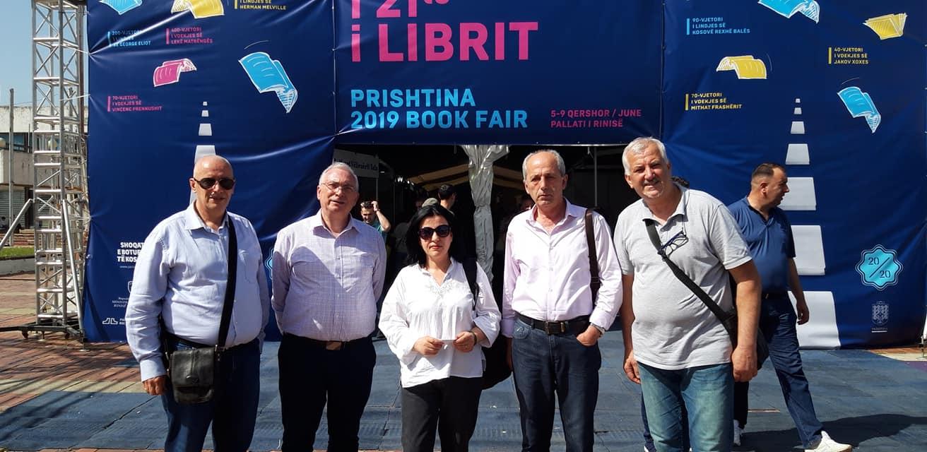 Prishtine 2019 - Panairi i Librit... Leka Ndoja, Botuesi Aurel Kaçulini, Luljeta Progni, Selami Zalli, Jozef Radi
