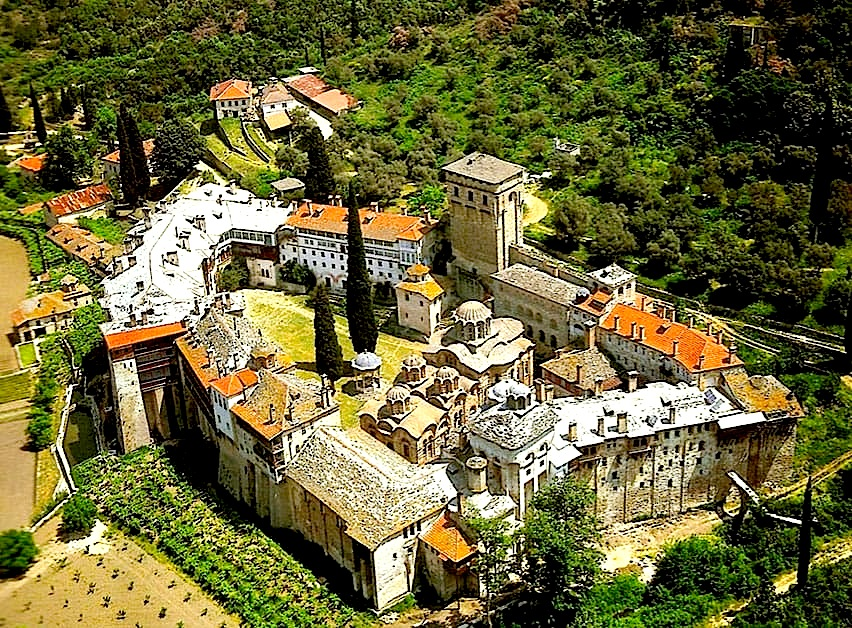 Manastiri i Hilandarit në Malin e Shenjtë Athos