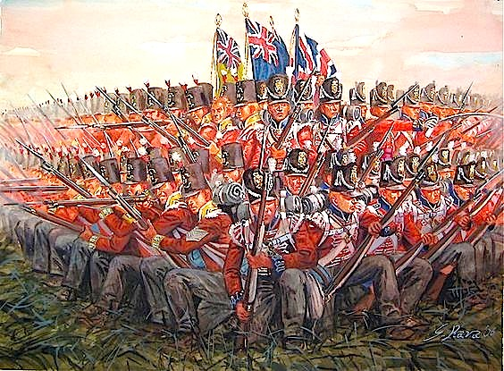Beteja e Wateroo-s Forcat Angleze në rezistencë