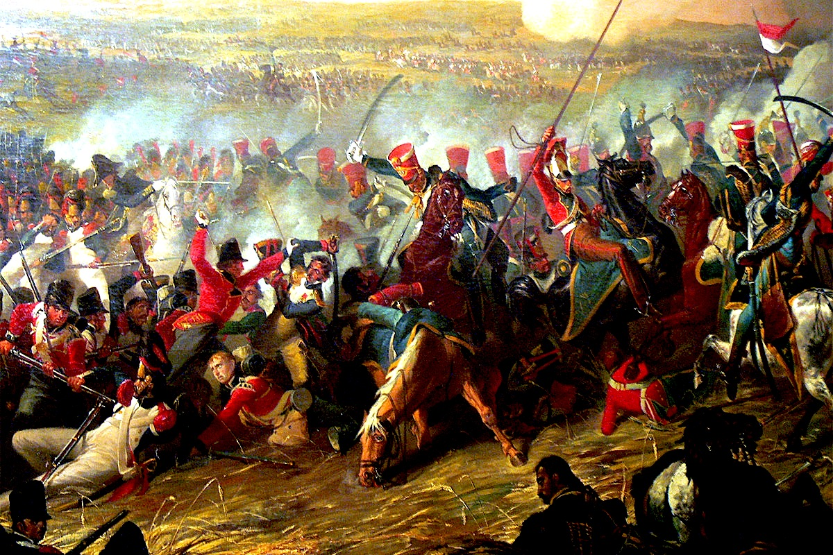 Beteja e Waterloo-s tabllo nga Denis Dighton 1816