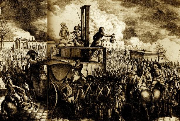 Revolucioni Francez - Gijotina ka këputur kokën e Luigjit XVI