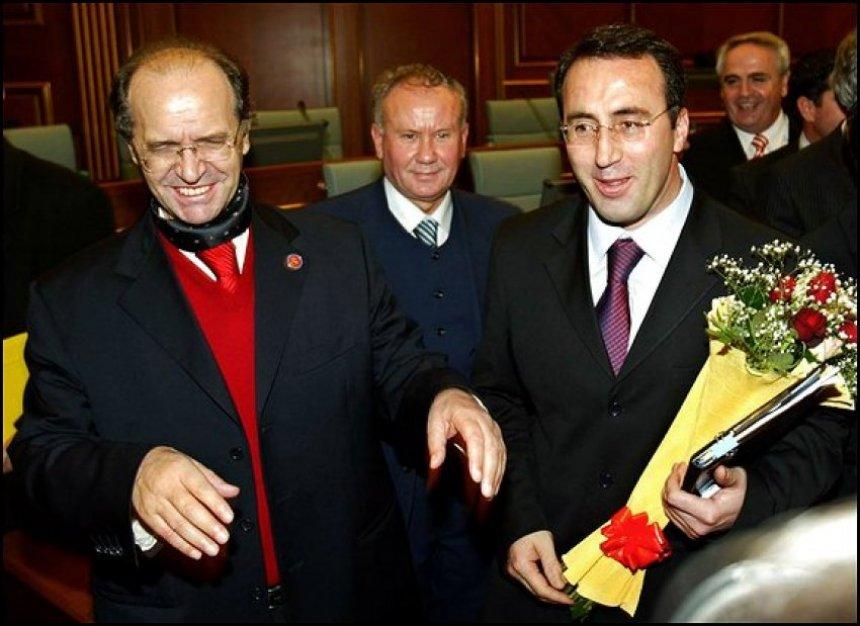 Ramush Haradinaj dhe Presidenti Ibrahim Rugova