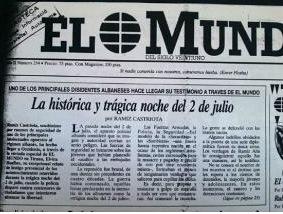 """Aurel Plasari """"El Mundo"""" 1990"""