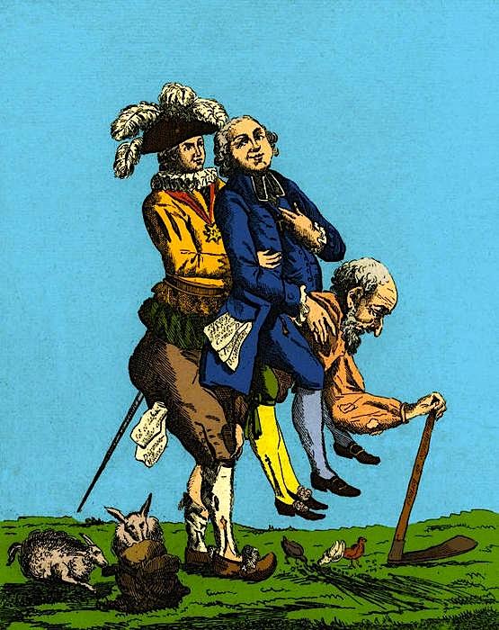 Revolucione Francez si karikaturë e shfrytëimit