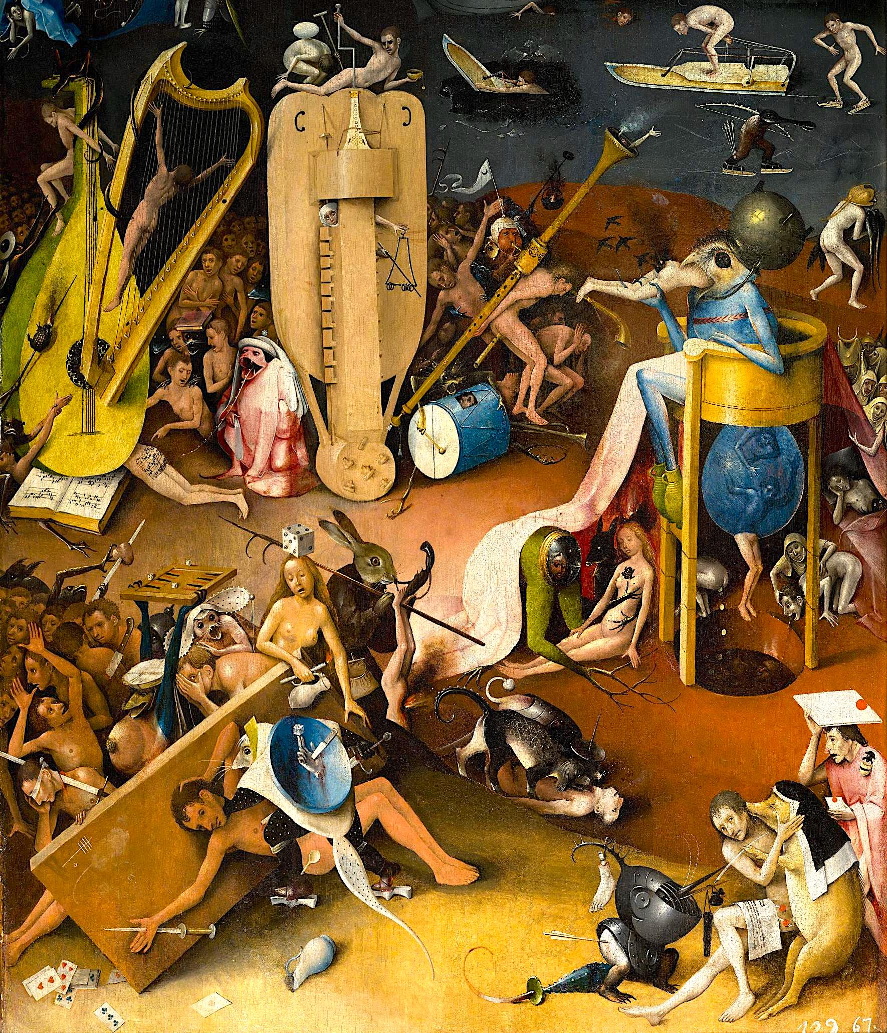 Hieronymus Bosch - Pjese nga Triptiku Kopeshti i Hijeshive