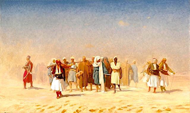 Shqiptarët me fustanella në shkretëtirë