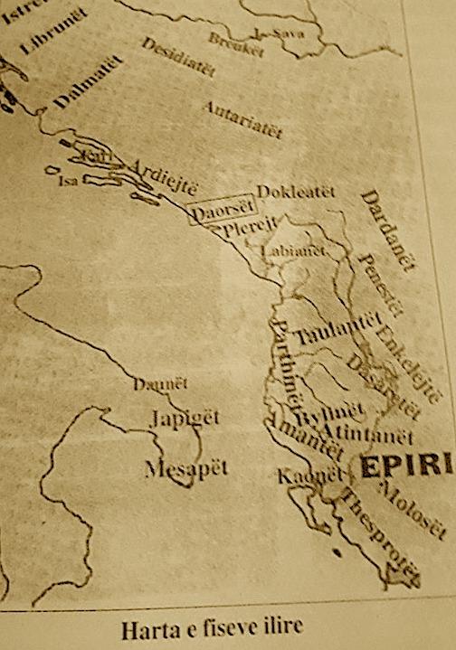 Harta e Fiseve Ilire