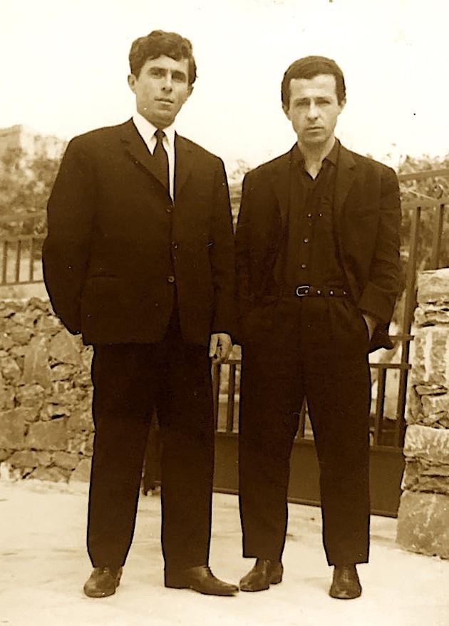 Bilal Xhaferri me kunatin Selfo Hoxha dale në Greqi pas arratisjes  (1969)