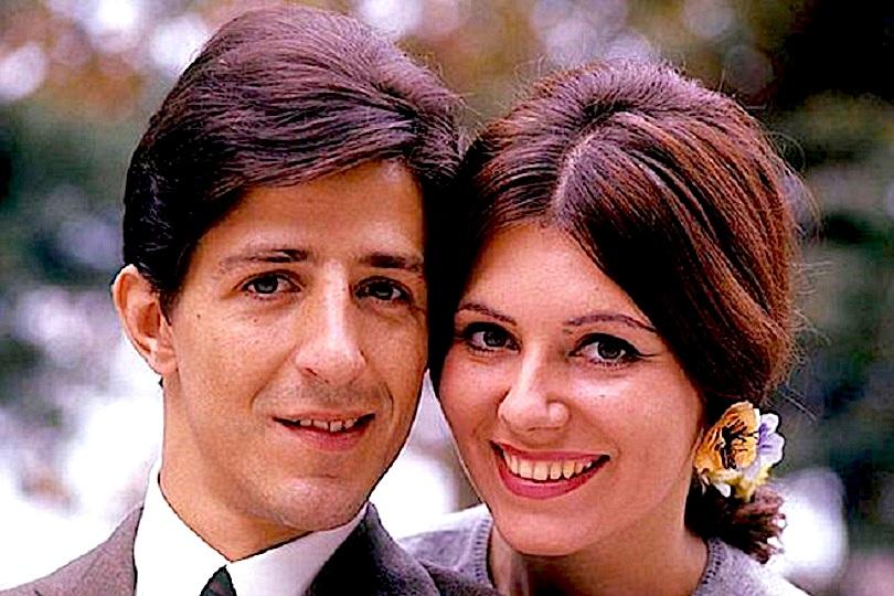Giorgio Gaber dhe gruaja e tij Ombretta Colli