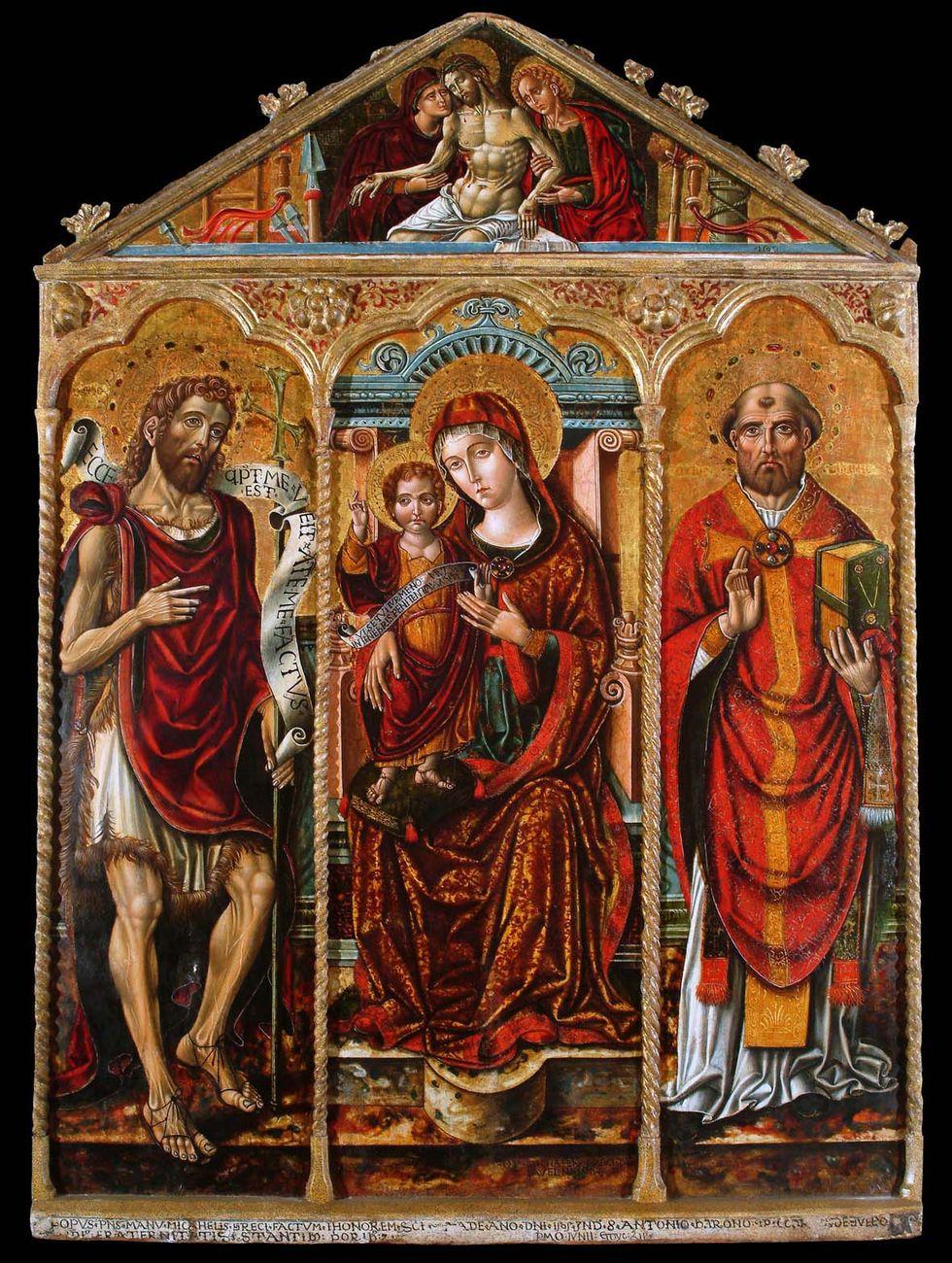 Michele Greco daValona: Madonna con Bambino e Santi Giovanni Battista