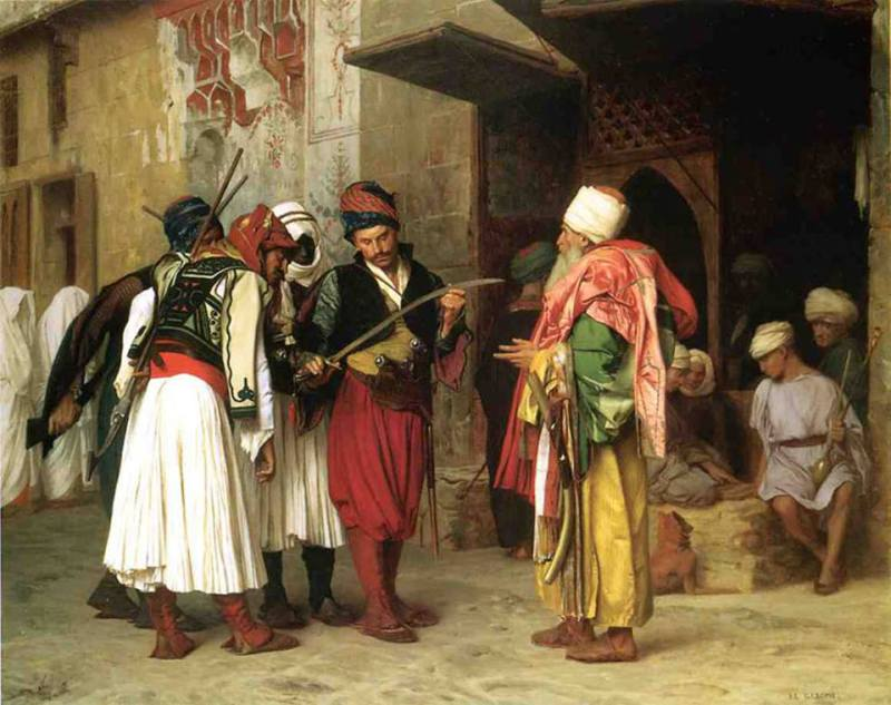 Jerome - Në tregun e Kairos, Shqiptarët me Fustanellë