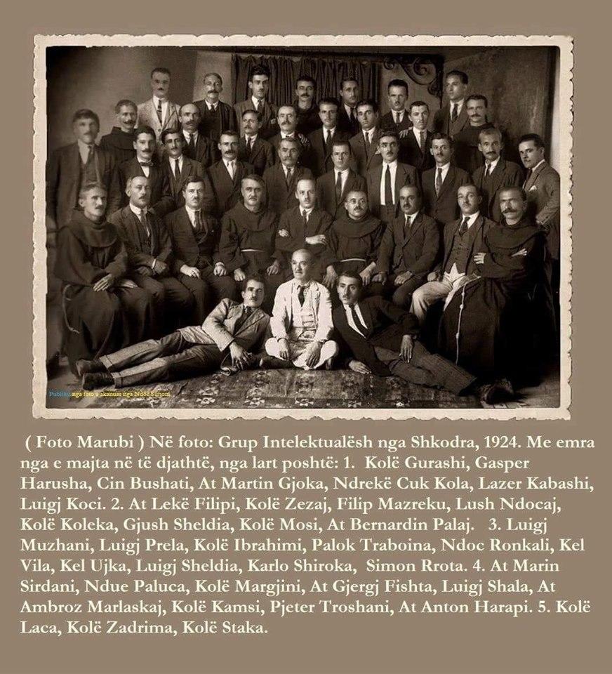 Shkodra Intelektuale - Marubi 1924