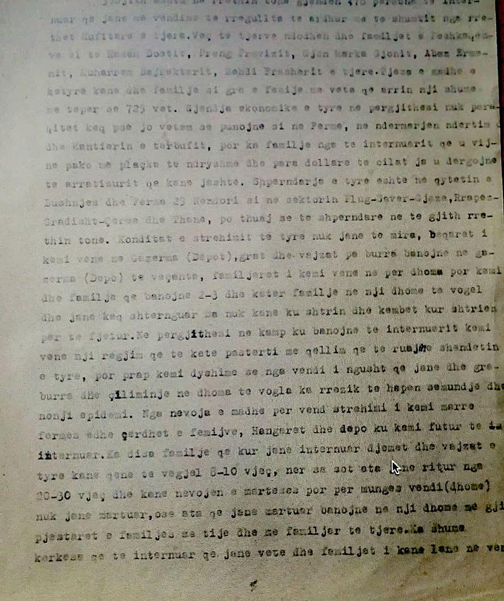 Dokumenti i Ministrisë së Brendshme i vitit 1959,