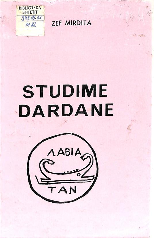 Zef Mirdita - Studime Dardane