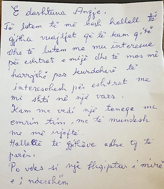 Mark Shllaku - Letra para vdekjes