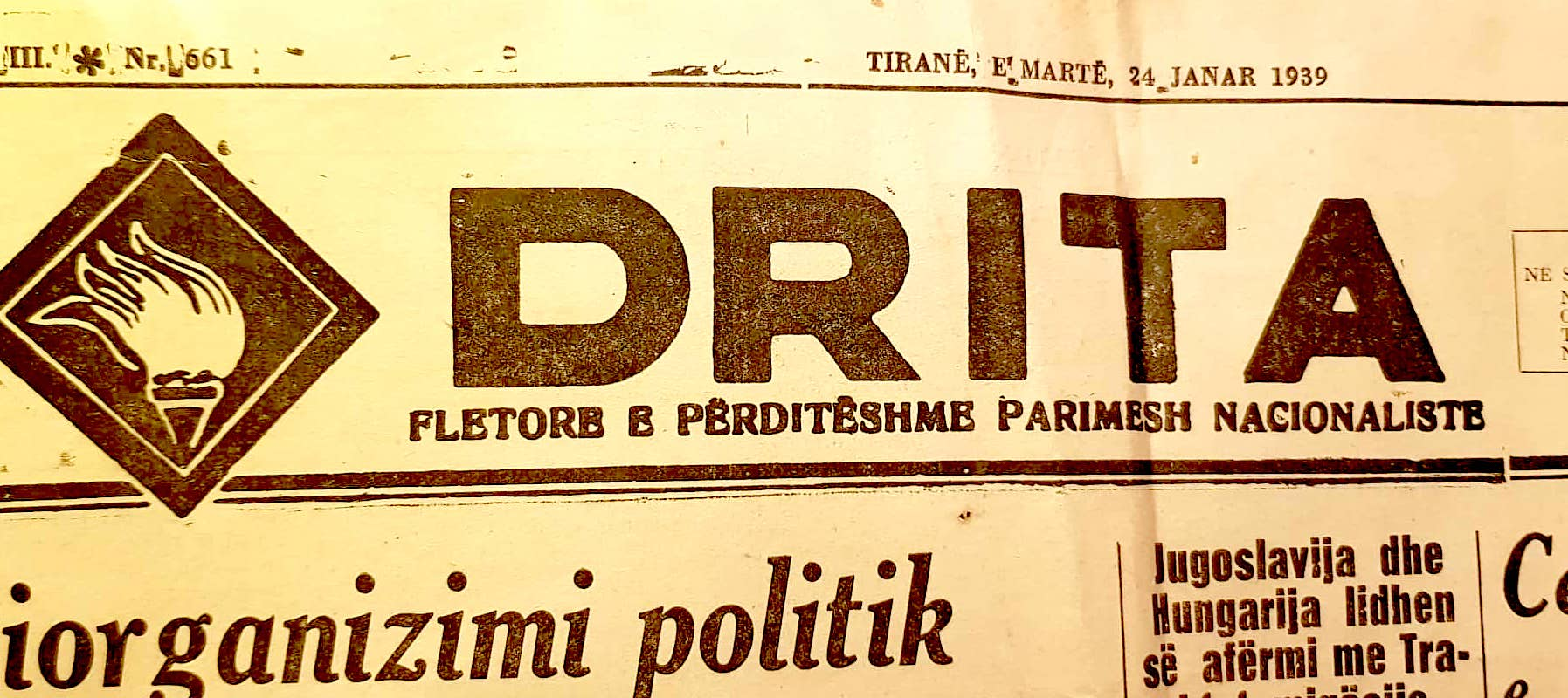 "Gazeta ""Drita"" 24 janar 1939"