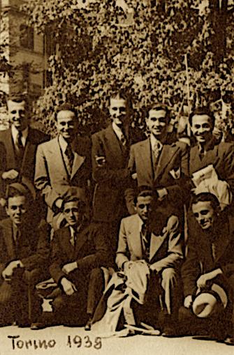 Jakov Milaj dhe studentë shqiptarë në Torino 1938