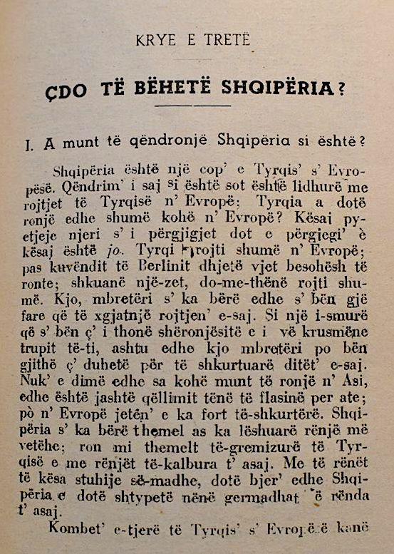 """Sami Frasheri - Pjese nga """"Shqipëria ç'ka qënë, ç'ësht'e çdo të bëhetë"""""""