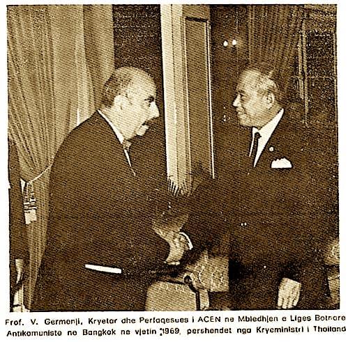 Vasil Germenj dhe Kryeministri i Thailandes - 1969n