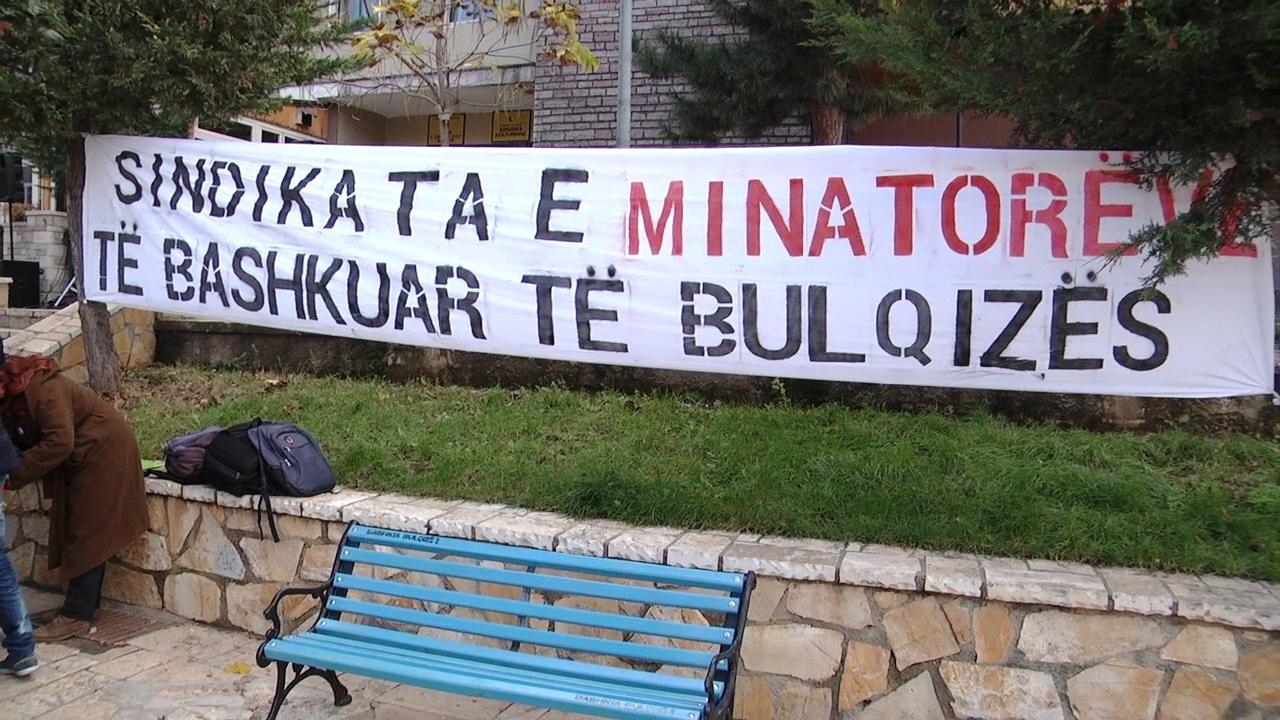 Minatorët e Bulqizës në Protestë