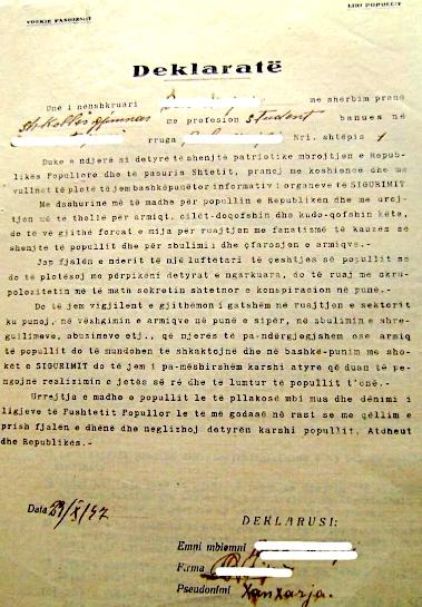 Deklarata Model e Bashkëpunimit të lirë