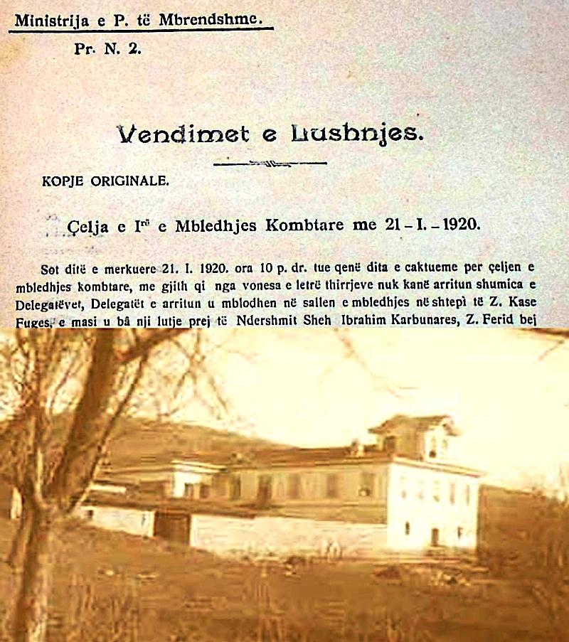 Lushnje - Janar 1920
