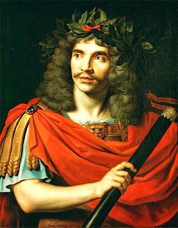 Moliere (1622-1673) Pikture nga Nicolas Mignard