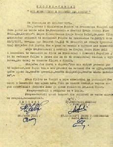 Proces-Verbali i ekzekutimit te Dom Shtjefen Kurti