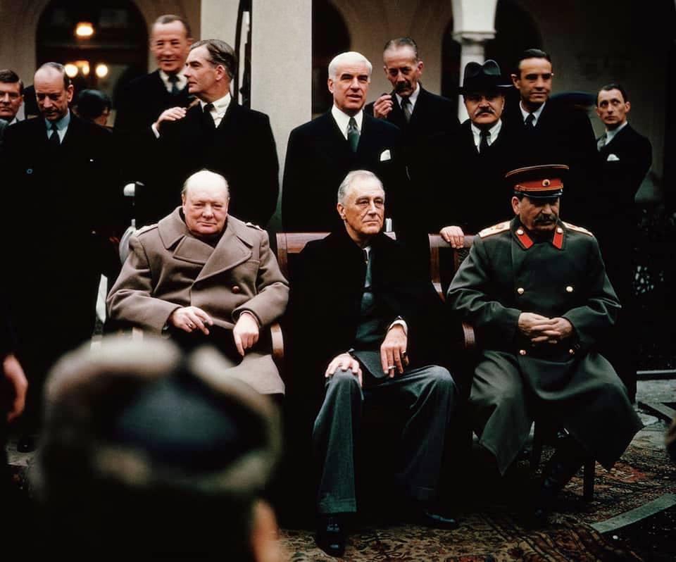 Churchilli Roosvelti dhe Stalini - Jalte 1945