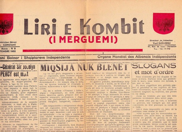 """Gazeta """"Liria e Kombit"""" e Vasil Gërmenjit"""
