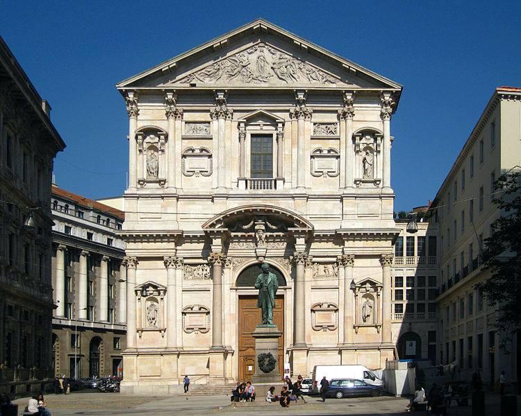 Kisha San Fedele - Milano, ku kaloi vitet e fundit të jetës At Valentini.