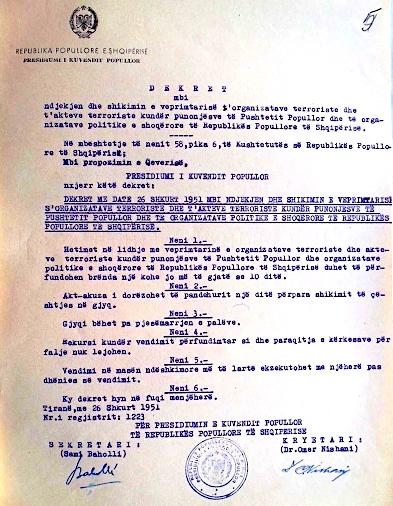 Ligjet e vitit 1951