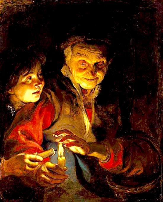 E moshuara dhe fëmija pikturë nga Pieter Paul Rubens