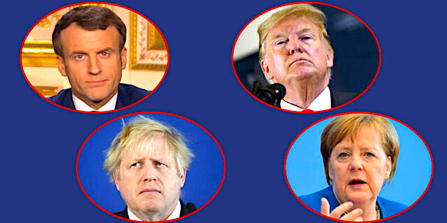 Merkel - Macron - Trump & Jonhson