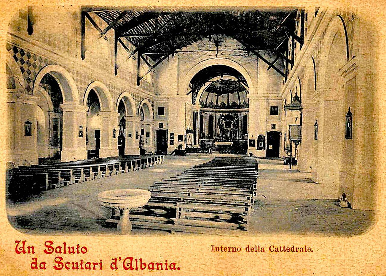 """Pamje e """"Kishës së Madhe"""" Katedrale në Vitet '30"""
