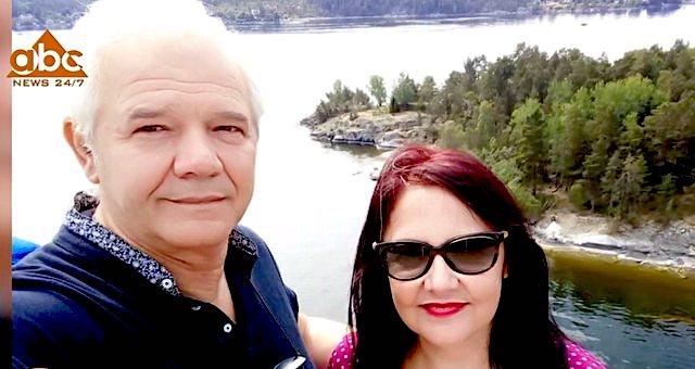 Adrian Kazazi dhe e shoqja Anila