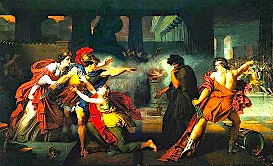 Konfikti mes dy vëllezërve Eteokle dhe Poliniçe.