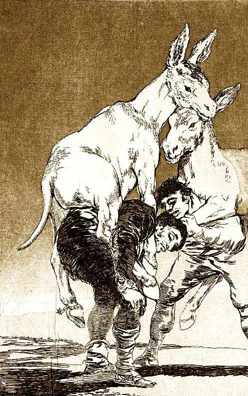 Francisco Goja - Gomarët hipur të zotëve...