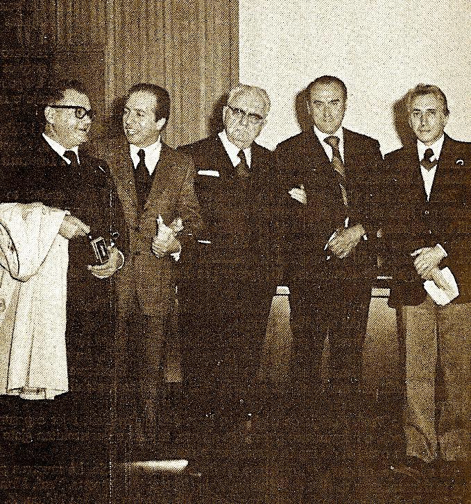 Palermo: Aula Magna nga e Majta Shllaku, Dr. Petrotta, Prof. Koliqi, Isa Ndreu, Prof. Guzzetta