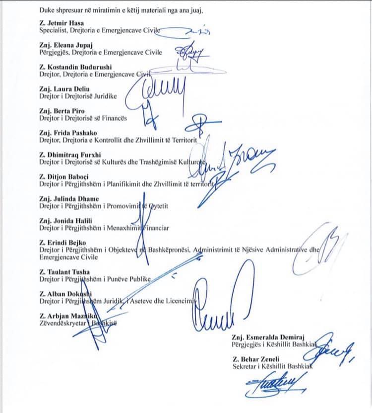 Firmat e Bashkisë për rrënimin e Teatrit Kombëtar