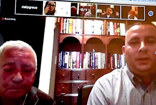Dine dhe Ervin Dine - Moderator i takimit