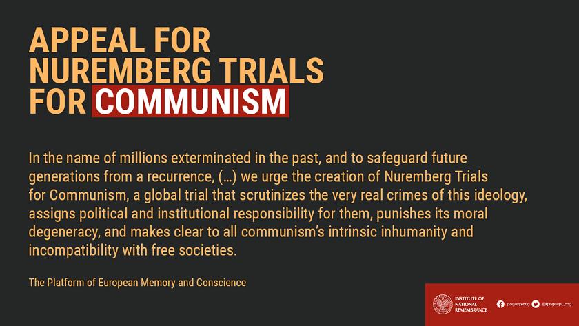 Apel per nje Nuremberg ndaj Komunizmit!