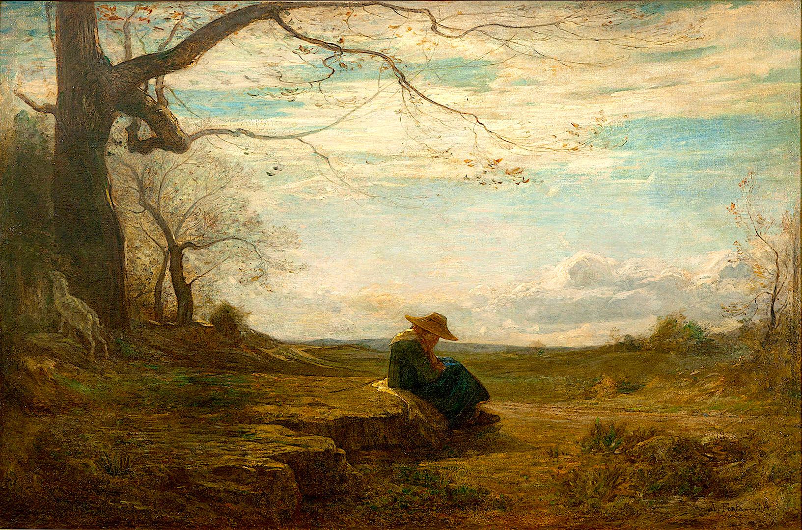 Vetmi vjeshte - pikture nga Antonio Fontanesi