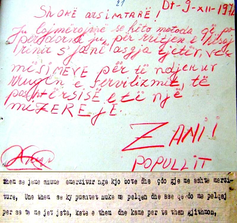 Trakti i shkruar nga Laura Keçi  dhe pjesë nga dëshmia e saj në hetuesi
